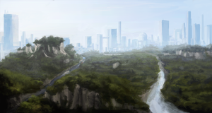 Distant metropolis by firefly2347