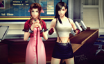 Aerith and Tifa by Dragunova-Cosplay