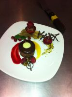 Chocolate Mousse Cake Presentation by kristinyates