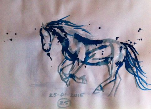 #25 Drawing a horse a day 2015 by Nienke15