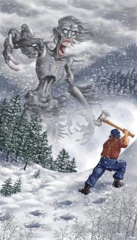 Paul Bunyan vs. the Wendigo by gaelvin