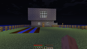 Minecraft House Front by Lyra-Elante