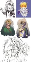 LoZ Sketch Dump 01 by SageSins