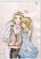 Ed and Winry love by Karenscarlet