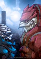 Garrus And Wrex by Ricsnake