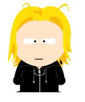 South Park Larxene by squirrely-chan