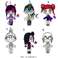 10 Point Choose Your Colors Adopts :2 left: by HopeForTheFuture13