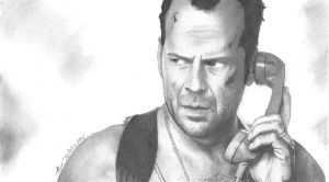 Bruce Willis as John McClane Sketch by funksoulfather