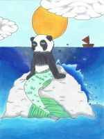 Mermaid-panda by SherlockTeddy