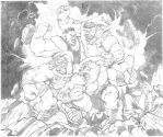 COMMISSION: CLASH OF THE HULKS by jerkmonger
