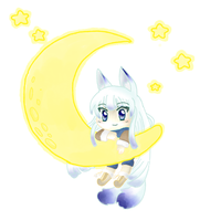 Yuki the Moon Spirit by StarrySkyDreamer