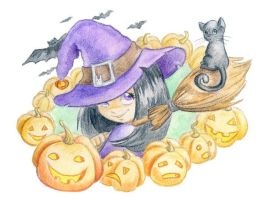 Little witch by jkBunny