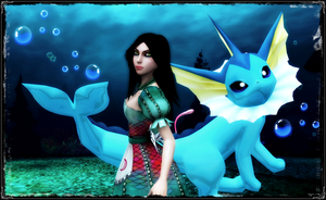Alice and Vaporeon by jagged66