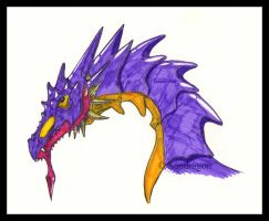 Dragon trying new pencil by Sandragon