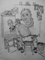my attempt at the norman rockwell portrait by darminium