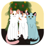 Christmas Cats by HolwingWolfy