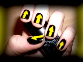 Soul Eatter Nails by RoxysSlushPuppie