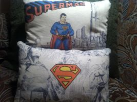 Superman Pillows by CasteelArt