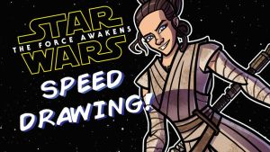 TFA Speed Drawing - 8 of 9 - Rey by JoeHoganArt
