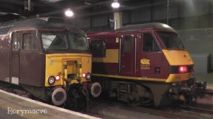 WC 57315 and EWS 90028 at Euston by The-Transport-Guild