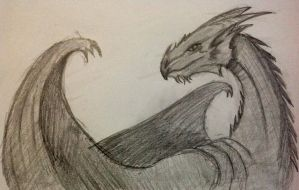 Dragon sketch by blackzero7