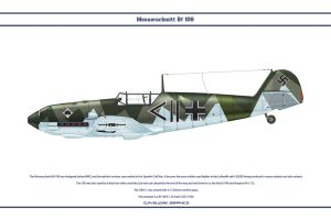 Bf 109 E-1 JG53 1 by WS-Clave