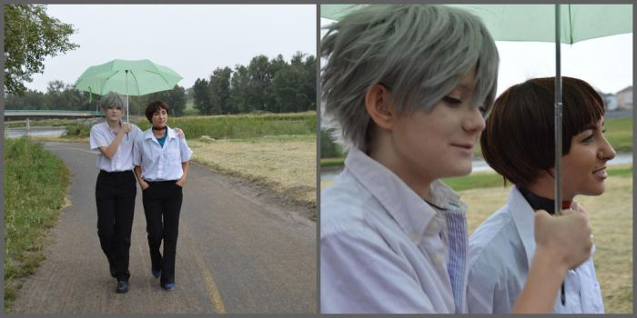 kaworu and shinji by BeyondMyUnBirthday