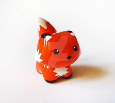 Cute Polymer Clay Miniature Fox by mAd-ArIsToCrAt