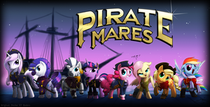 The Pirate Mares by Lionheartcartoon