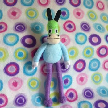 (Fat Skids) Toontown Horse Plushie (naked) by MadameWario