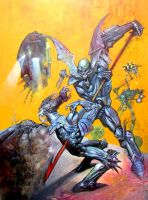 A1 Book 4 cover by SIMON BISLEY by DeevElliott