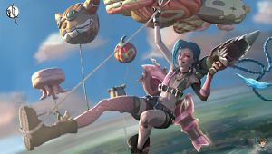 Mouting Jinx's Playmat more resolution by HitoriHime