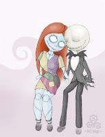 -jack and sally- by enri2349