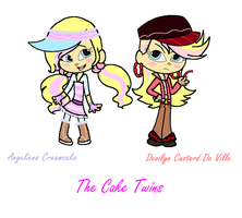 Sugar Rush Ocs-The Cake Twins by Obeliskgirljohanny