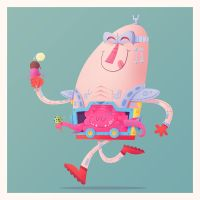 Krang Loves Ice Cream by MattKaufenberg