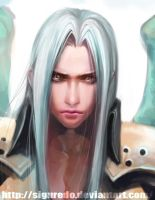 JoeLing - Sephiroth detail by siguredo