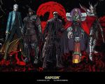 Wesker and 4 Capcom Villains by monkeygigabuster
