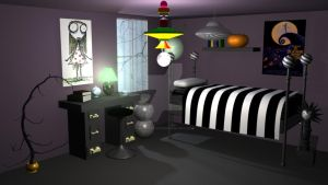 Tim Burton Room by Haiiro-Artiste