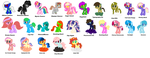 ALL OCs ~Outdated~ by PegasusNamedDeath
