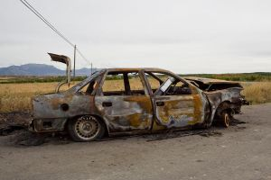 burned car by ana-ene-eme