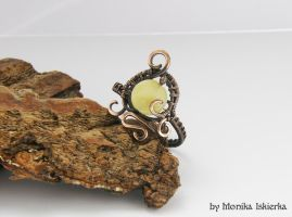 Wire wrapped ring with opal by mea00