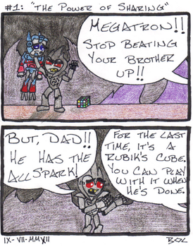 Lil' Transformers No. 1: The Power Of Sharing by Batman1356