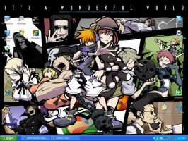 TWEWY desktop by Squirrelflighty