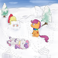 Hearth's Warming Micro-Comic Giveaway: Day 2 of 6 by Chiweee