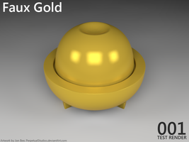 Material Test - Faux Gold by PerpetualStudios