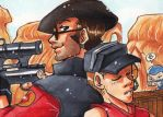 ACEO - Sniper and Scout by Pandablubb