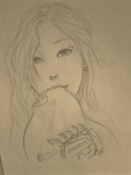 Taeyeon sketch request by Hoshikama534