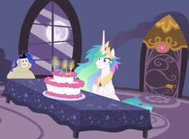 Celestia's Birthday by Magister39