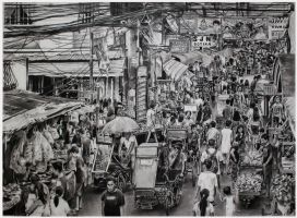 pencil drawing daily life malibay pasay city  by A by ATCdrawings