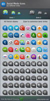 80 Social Media Icons by Grapigs